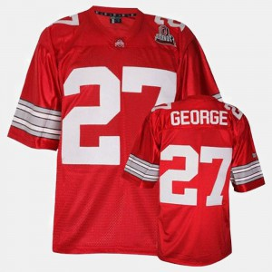 Men's Ohio State Buckeyes #27 Eddie George Red College Football Jersey 490636-311