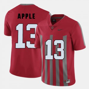 Men Ohio State Buckeyes #13 Eli Apple Red College Football Jersey 295961-308