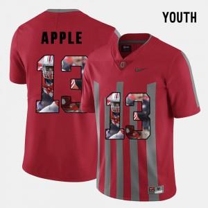 For Kids Buckeye #13 Eli Apple Red Pictorial Fashion Jersey 693117-872