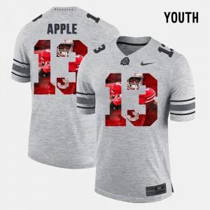 Kids Ohio State #13 Eli Apple Gray Pictorital Gridiron Fashion Pictorial Gridiron Fashion Jersey 643268-746