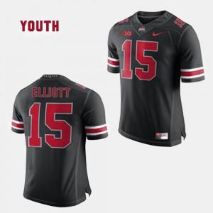 Kids Buckeyes #15 Ezekiel Elliott Black College Football Jersey 738580-464