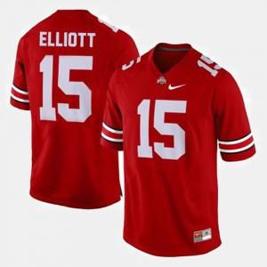 For Men's OSU Buckeyes #15 Ezekiel Elliott Red College Football Jersey 345339-124
