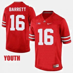 Youth Ohio State #16 J.T. Barrett Red College Football Jersey 466626-833