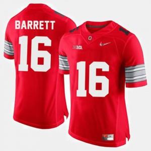 Men OSU Buckeyes #16 J.T. Barrett Red College Football Jersey 239603-573