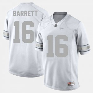 For Men's Ohio State #16 J.T. Barrett White College Football Jersey 626291-137