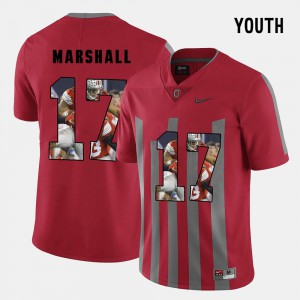Kids Buckeye #17 Jalin Marshall Red Pictorial Fashion Jersey 761330-697