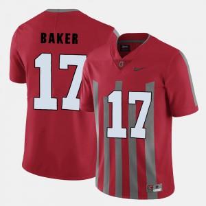 Men Buckeye #17 Jerome Baker Red College Football Jersey 543483-367