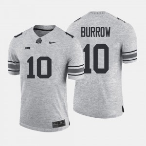 For Men Ohio State #10 Joe Burrow Gray Gridiron Gray Limited Gridiron Limited Jersey 263017-707