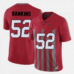Men Ohio State #52 Johnathan Hankins Red College Football Jersey 558703-738