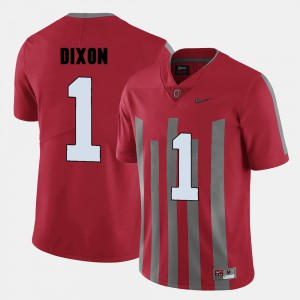Men's OSU #1 Johnnie Dixon Red College Football Jersey 265094-729