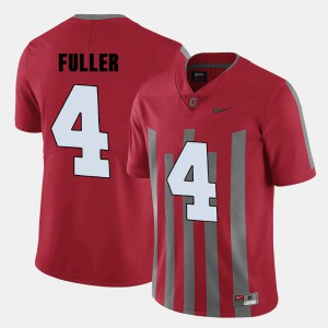 Men Buckeye #4 Jordan Fuller Red College Football Jersey 882933-903