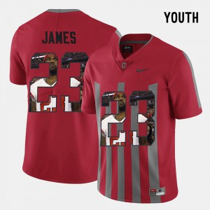 For Kids Ohio State #23 Lebron James Red Pictorial Fashion Jersey 943184-472