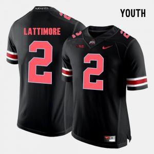Youth Buckeyes #2 Marshon Lattimore Black College Football Jersey 739763-620