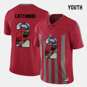 Kids OSU #2 Marshon Lattimore Red Pictorial Fashion Jersey 589339-135