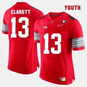 Kids Buckeye #13 Maurice Clarett Red College Football Jersey 682596-668