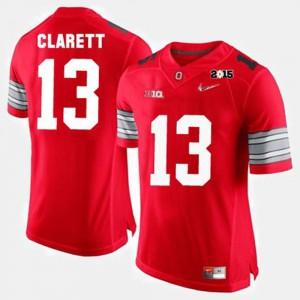 For Men OSU #13 Maurice Clarett Red College Football Jersey 395691-261