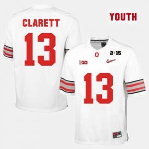 For Kids Buckeyes #13 Maurice Clarett White College Football Jersey 738990-496