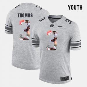 For Kids Ohio State #3 Michael Thomas Gray Pictorital Gridiron Fashion Pictorial Gridiron Fashion Jersey 842900-946
