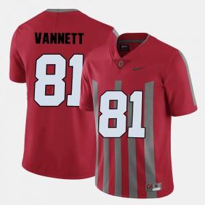 Men's Ohio State #81 Nick Vannett Red College Football Jersey 207091-667
