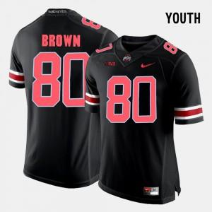 Youth(Kids) Buckeye #80 Noah Brown Black College Football Jersey 849593-612