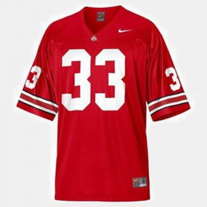 For Men's Ohio State Buckeyes #33 Pete Johnson Red College Football Jersey 356781-552