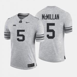 Mens Ohio State #5 Raekwon McMillan Gray Gridiron Gray Limited Gridiron Limited Jersey 438097-406