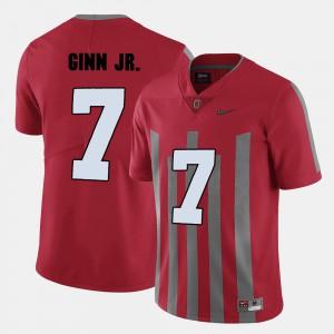Men's Buckeye #7 Ted Ginn Jr. Red College Football Jersey 672734-461