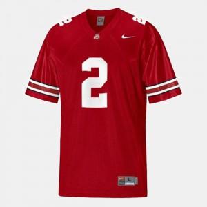 Men's Ohio State #2 Terrelle Pryor Red College Football Jersey 179352-792