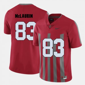 Mens Buckeye #83 Terry McLaurin Red College Football Jersey 202188-706