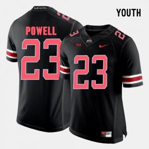 Youth(Kids) Ohio State Buckeye #23 Tyvis Powell Black College Football Jersey 451059-953