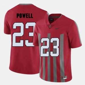 Mens Buckeye #23 Tyvis Powell Red College Football Jersey 858718-960
