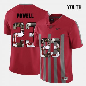 Youth(Kids) OSU #23 Tyvis Powell Red Pictorial Fashion Jersey 257475-111