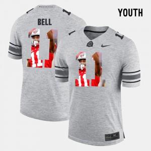 Youth(Kids) Buckeye #11 Vonn Bell Gray Pictorital Gridiron Fashion Pictorial Gridiron Fashion Jersey 956731-165