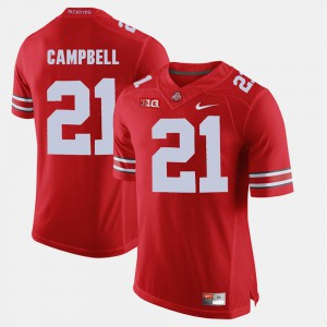 Mens Ohio State Buckeyes #21 Parris Campbell Scarlet Alumni Football Game Jersey 435126-500