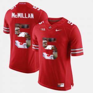 For Men's Ohio State #5 Raekwon McMillan Scarlet Pictorial Fashion Jersey 640095-433