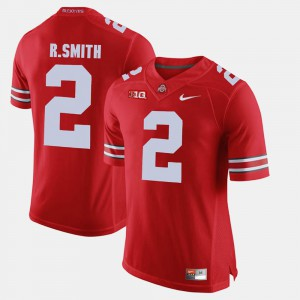 Mens Ohio State Buckeyes #2 Rod Smith Scarlet Alumni Football Game Jersey 405159-626