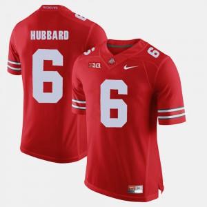 Men's Ohio State #6 Sam Hubbard Scarlet Alumni Football Game Jersey 343269-496