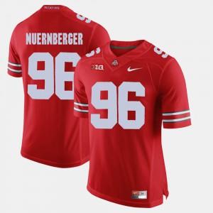 Men's Ohio State #96 Sean Nuernberger Scarlet Alumni Football Game Jersey 214921-686