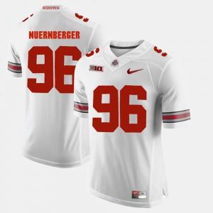 Men's Ohio State #96 Sean Nuernberger White Alumni Football Game Jersey 828639-130