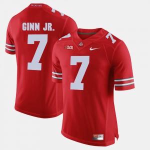Men's Ohio State Buckeyes #7 Ted Ginn Jr. Scarlet Alumni Football Game Jersey 813217-381