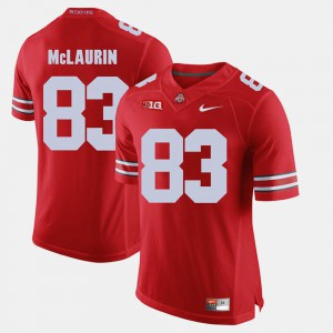 Men Ohio State #83 Terry McLaurin Scarlet Alumni Football Game Jersey 344656-577
