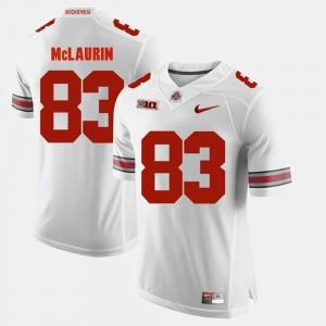 Mens Buckeyes #83 Terry McLaurin White Alumni Football Game Jersey 990472-882