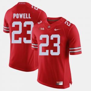 Men's Buckeye #23 Tyvis Powell Scarlet Alumni Football Game Jersey 378117-755