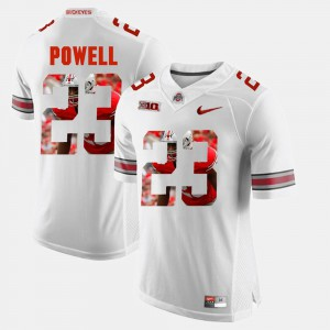 Mens Buckeye #23 Tyvis Powell White Pictorial Fashion Jersey 873736-923