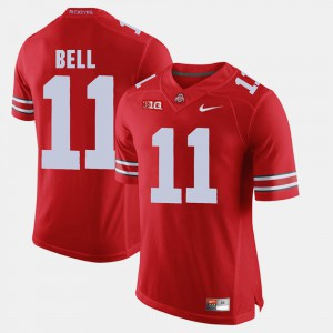 Mens OSU #11 Vonn Bell Scarlet Alumni Football Game Jersey 162259-991