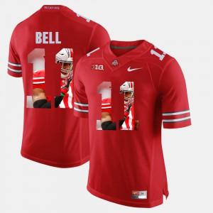 Men's Ohio State Buckeyes #11 Vonn Bell Scarlet Pictorial Fashion Jersey 885325-627