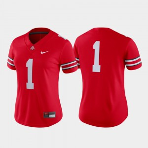 For Women Ohio State #1 Scarlet Game College Football Jersey 260771-276