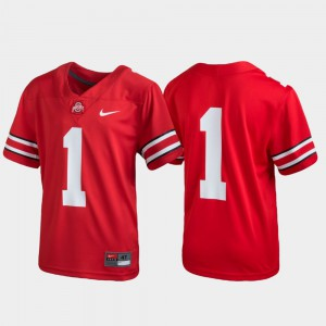 Kids Ohio State Buckeye #1 Scarlet Untouchable Football Jersey 643559-483