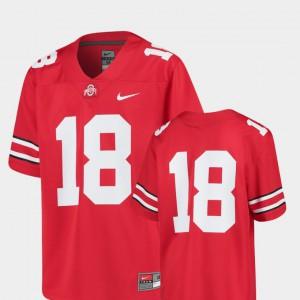 For Kids Buckeye #18 Scarlet College Football Replica Jersey 599951-820