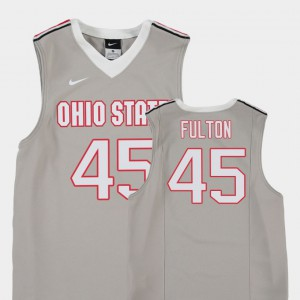 Youth Buckeyes #45 Connor Fulton Gray Replica College Basketball Jersey 542705-385